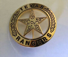 OLD WEST - TEXAS RANGER - HIGH QUALITY Brass  Badge - 45  mm Dia   E041001