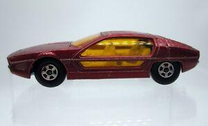 Vtg 1969 Matchbox Superfast #20 Lamborghini Marzal Metallic Red Car