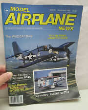 Model Airplane News Magazine September 1985 How To Make Landing Gear