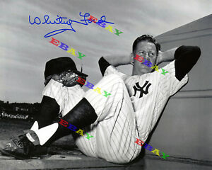 Whitey Ford New York Yankees Signed Autographed Signed 8x10 Photo Reprint