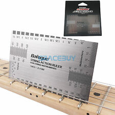 String Gauge Action Ruler Guide Setup Measuring Luthier for Electric Guitar Bass