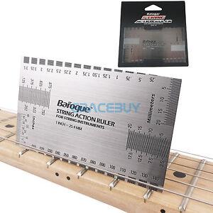 String Action Ruler Luthier Herramientas para bajo eléctrico acústica guitarra