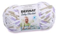 "DISCONTINUED BERNAT® Baby Blanket ""LITTLE LILAC DOVE"" Super Bulky 6 Yarn~Purple"