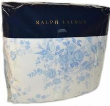 RALPH LAUREN Archival Dauphine Birds Floral TWIN COMFORTER Blue White