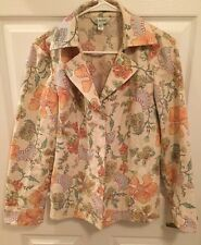 Austin Reed Blazer Colorful floral lined Full Sleeve Hidden Button Coat Size 8