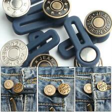 UK STOCK Jeans Retractable Button Adjustable Detachable Extended Button