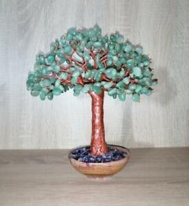 Aventurine gemstone wire tree sculpture