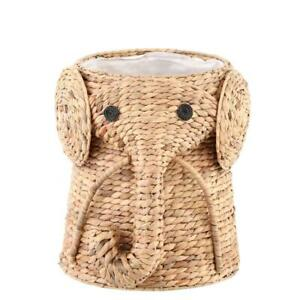 Elephant Laundry Hamper In Natural Baby Kid Dirty Clothes Storage