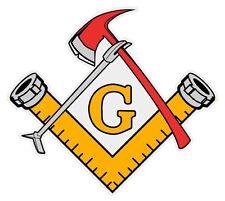 Masonic Free Mason Firefighter Tools Emergency Helmet Small Reflective Decal