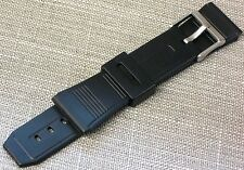 Rubber Plastic Watch Band Black Replacement FITS CASIO-SEIKO-TIMEX 22mm
