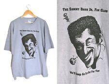 Sammy Davis Jr Fan Club Shirt XXL Gray Glass Eye Novelty Tee Humor Comedy Sox
