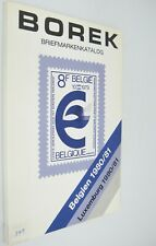 Borek Briefmarkenkatalog Belgium Luxembourg 1980-81 Stamp Catalog in German