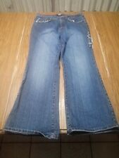 Nesso Jeans Size 14 Bootcut Stretch Distressed with Bling