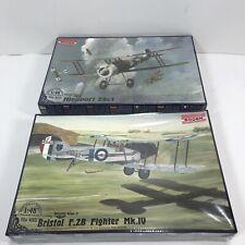 2 RODEN Model War Planes BRISTOL F.2B FIGHTER MK.IV / Nieuport 28c1 1/48 Sealed