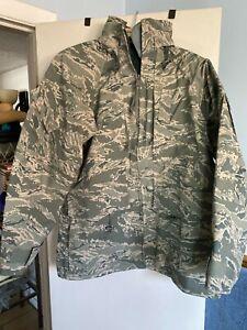 Genuine USAF Tiger Stripe ABU APECS All-Purpose GORE-TEX PARKA Jacket Medium Reg