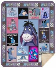 Wake Me Up When The Drama Stops EEyore Sherpa Blanket - 50x60