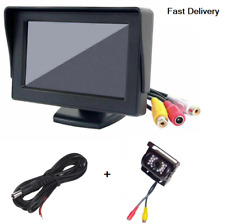 "4.3"" TFT LCD Car Rear View Reversing Monitor PLUS Parking Night Vision Camera"