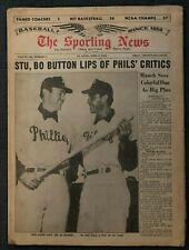 APRIL 3, 1965 SPORTING NEWS PHILADELPHIA PHILLIES DICK STUART BO BELINSKY