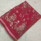 "Exotic Georgette Dupatta Long Indian Scarf Hand Embroidery WeddingVeil Stole L"""