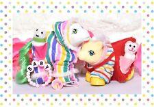 ❤️My Little Pony G1 VTG Jumper & Snowsuit Pocket Pals Baby Pony Wear Clothing❤️