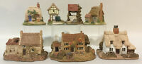 Lilliput Lane Lot~7pc~Clare~Cobblers~Petticoat~Spinney~Holme Dyke~Hampton~Well