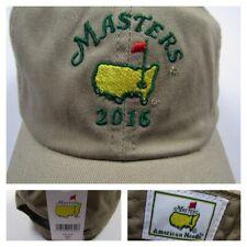 2016 Masters Khaki Golf Hat Augusta National Golf Club Cap American Needle New