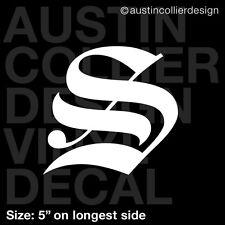 "5"" LETTER ""S"" vinyl decal car truck window laptop sticker - initials name"