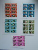 1970 General Anniversaries set of 5 in Cylinder Blocks of 6 & 8 Superb U/M