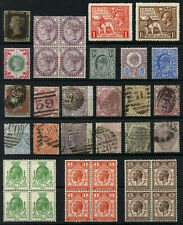QV - KGV GB Stamp Collection Inc SG 2 1d Penny Black & SG 214 Mint
