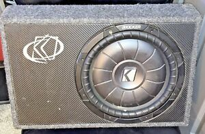 Kicker Comp 10TCVT122 10 Inch 2 Ohm Subwoofer Enclosure Box Used/Great Condition