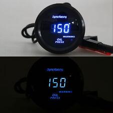 """2"""" 52mm Blue Digital LED Oil Pressure Gauge Press Meter with Sensor Tint Lens US"""