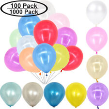 "100 1000 LATEX PEARL BALLOONS HELIUM Pearlised White 10"" Wedding Birthday Party"
