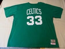 4XL MITCHELL & NESS Hardwood Classics Boston Celtics LARRY BIRD #22 T-Shirt