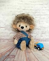 OOAK Artist teddy bear hedgehog 7""