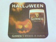 GUINNESS  HALOWEEN  Beermat / Coaster 2 sided -  BREWED in DUBLIN