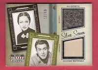 JIMMY STEWART & DOROTHY LAMOUR WORN RELIC SWATCH MATERIAL CARD #d11/49 AMERICANA