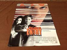 1992 Unlawful Entry Original Movie House Full Sheet Poster