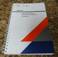Tektronics 1740A/1750A Series Waveform Vector Monitor User Manual