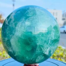 Natural Green Fluorite Quartz Crystal Ball Sphere Polished Mineral Healing 2350g