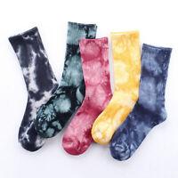 Men Wild Fall Cotton Socks Colorful Novelty Print Pattern Casual Dress Socks