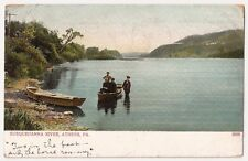Susquehanna River Athens Pennsylvania Antique Postcard