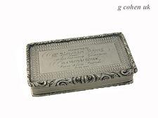 Victorian Silver  Snuff Box  Birmingham 1837