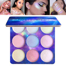CmaaDu 9 Colors Highlighter Palette Face Brighten Highlighter Eyeshadow Cosmetic