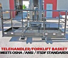 Work Platform Man Baskets For Telehandler Forklifts2000 Lbcapacity4 X 98
