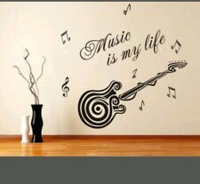 Music is my Life wall decal sticker boy girl classroom home decor