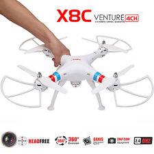 SYMA X8C 2.4G 4CH 6-Axis Gyro Quadcopter RTF Drone w/ 2.0MP HD Camera White