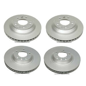 For Audi Q7 VW Touareg Two Front+Two Rear Disc Brake Rotors Ate Coated KIT