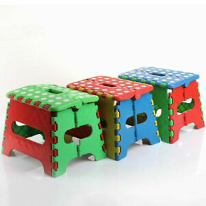 """7"""" Collapsible Folding Plastic Kitchen Step Foot Stool w/ Handle -  Kids"""