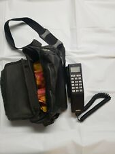 Vintage UNIDEN CP 1500A Brick Mobile Cell Phone With Battery & Case NR!