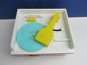 retro FISHER PRICE FP MUSIC BOX RECORD PLAYER TOY mattel vintage style 2384